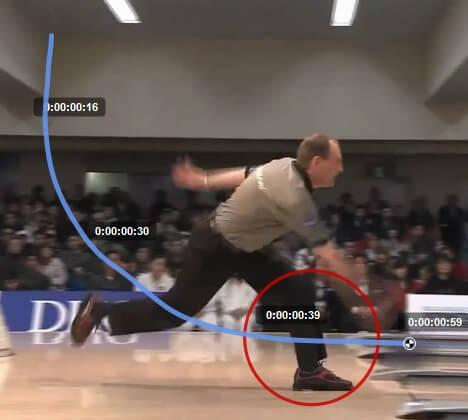 Flat spot in bowling